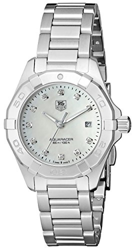 TAG Heuer Women's WAY1413.BA0920 300 Aquaracer Silver-Tone Stainless Steel Watch ()
