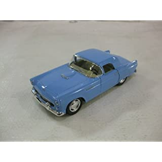 1955 Ford Thunderbird Hard Top In Powder Blue Diecast 1:36 Scale By Kinsmart