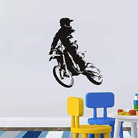 nkfrjz Cross Vinyl Wall Decal Autoadhesivo Moto Home Boys ...