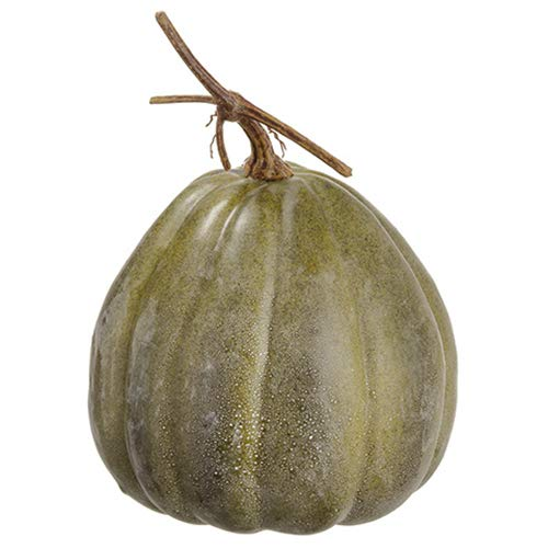 SilksAreForever 14'' Hx10 W Artificial Weighted Pumpkin -Green (Pack of 4)
