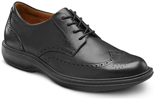 Dr. Comfort Wing Men's Therapeutic Diabetic Extra Depth Dress Shoe: Black 9.5 Wide (E/2E) Lace ()