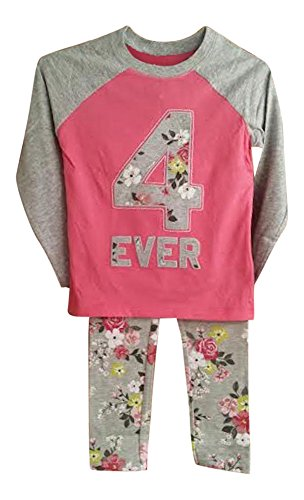 Carters Pink Flowered - Carter's Girls Top with Coordinating Leggings (6X, Pink 4 Ever Flowered)