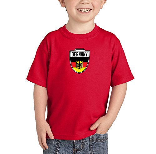 German Boy Clothes (Toddler/Infant Germany German - Soccer T-shirt (4T, RED))