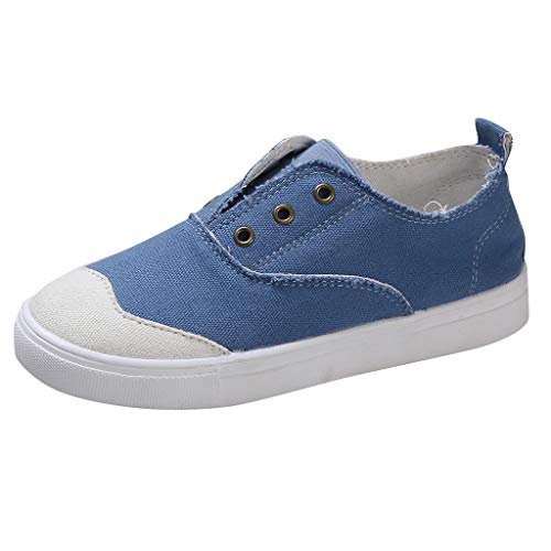 Women Loafers Vintage Out Shoes Round Toe Platform Flat Heel Buckle Strap Perforation Casual Walking Shoes No Shoelaces Pumps Blue