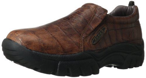 (ROPER Men's Performance Slip On-m, Bay Brown Crocodile, 8.5 M US)