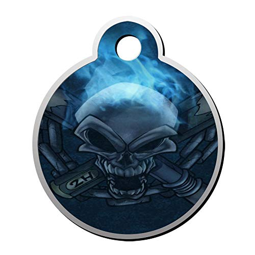 (OSJHDFjd Skeleton Pet Carving Id Tag Personality Diversity Double-Sided)