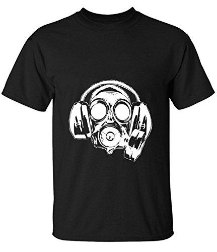 ReRabbit graffiti Gas masks Tshirt For Mens L black