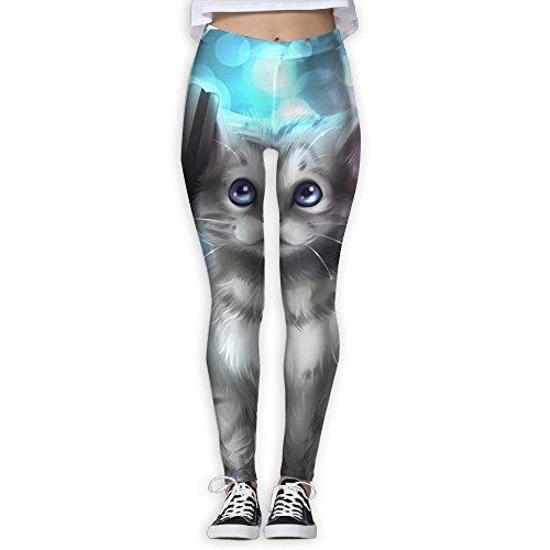 Price comparison product image Homlife Art Kitten Artwork Headphones Yoga Leggings Pants Gym Tights Stretchy Pants