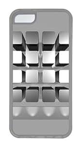 Customized Case 3D Bookshelf TPU Transparent for Apple iPhone 5C by icecream design