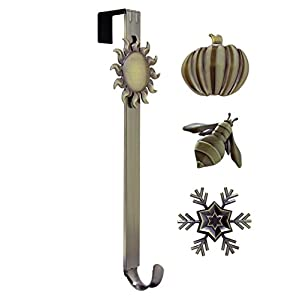 Adjustable Length Wreath Hanger with Interchangeable Icons 10