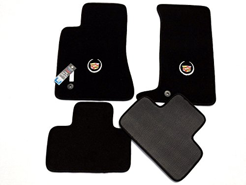 - Cadillac CTS (COUPE) Black Carpet Floor Mats 4Pc-Licensed Cadillac Crest Logo -fits 2011-2014 (All Wheel Drive)