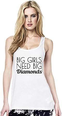 Big Girls Need Big Diamonds Funny Slogan Womens Continental Tunic Vest Large