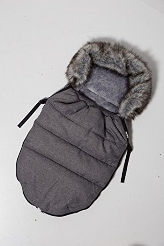 Kutnik Universal Footmuff/Sleeping Bag CocoonPolar 100 cm for Stroller and Sledge (Grey Melange with Grey)