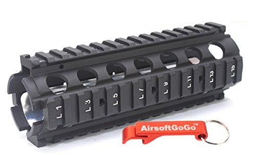 Cyma CNC Metal Aluminio 20mm RAS Guardamanos para Airsoft AEG M4 serie CQB - AirsoftGoGo Llavero Incluido