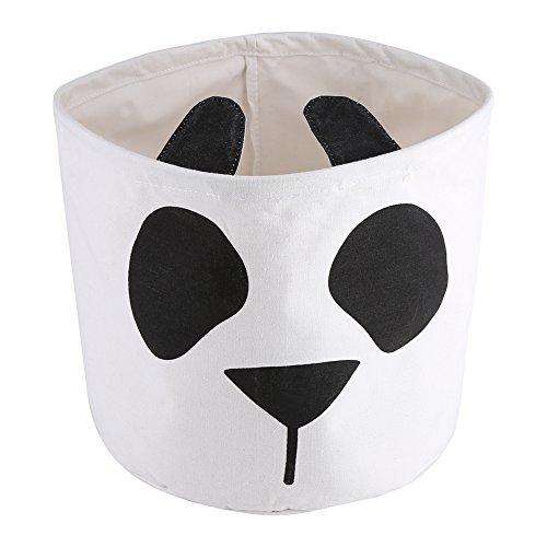 Fdit Plegable Panda Cara de Dibujos Animados Gran Bolsa de Almacenamiento Lona para Niños Juguete Ropa Cesta de Lavandería...