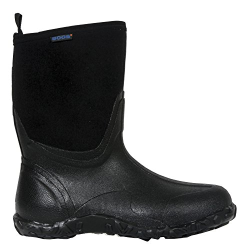 Bogs Men's Classic Mid Waterproof Insulated Rain Boot, Black, 15 D(M) US