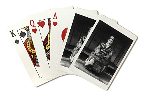 Traditional Dress Of America (Korean Man in Traditional Dress Photograph #1 (Playing Card Deck - 52 Card Poker Size with Jokers))