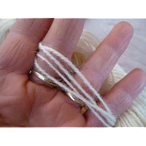Cream Ivory White 100% Wool Sports Worsted Weight Yarn