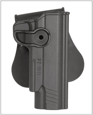 Sig Sauer 1911 22LR with Rail Holster by Itac, paddle retention style
