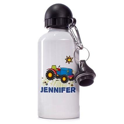 Botella de cristal de diseño Striefchen: tractor de nombre: Jennifer