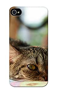 New Tpu Hard Case Premium Iphone 5/5s Skin Case Cover(Animal Cat) For Christmas Gift