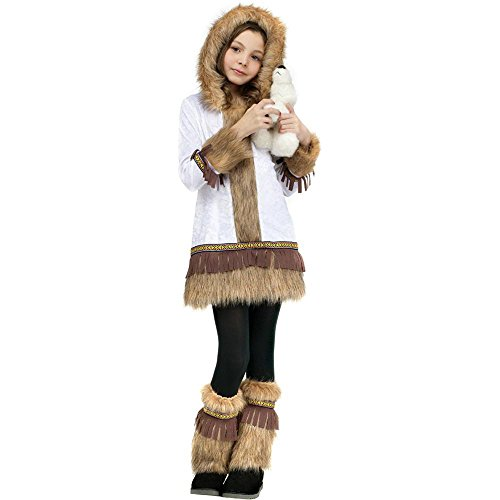 [Eskimo Kids Costume - Medium] (Kid Eskimo Costume)