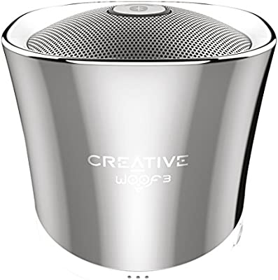 Creative Labs Woof 3 - Altavoces portátiles (Bluetooth, 3.5 mm, USB, microSD, reproductor MP3, FLAC integrado)