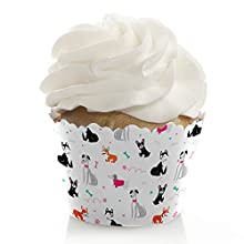 Pawty Like a Puppy Girl - Pink Dog Baby Shower or Birthday Party Decorations - Party Cupcake Wrappers - Set of 12