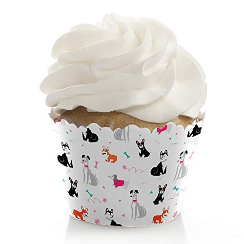 Pawty Like a Puppy Girl - Pink Dog Baby Shower or Birthday Party Decorations - Party Cupcake Wrappers - Set of 12 ()