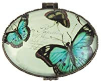 StealStreet SS-G-22001 Multicolored Blue Butterfly Trinket Box with Hinges, 2.75""