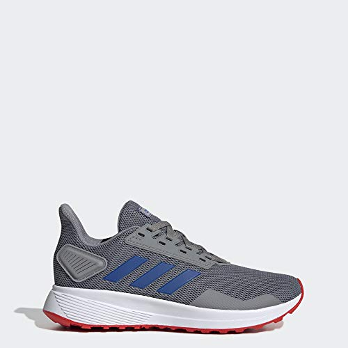 adidas Unisex Duramo 9 Running Shoe, Grey/Blue/Active Red, 4.5 M US Big Kid