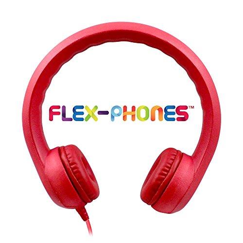 HamiltonBuhl Kids-RED Hamilton Buhl Flex-Phones Foam Headphones, Red, Kindergarten Grade to 3 Grade by HamiltonBuhl