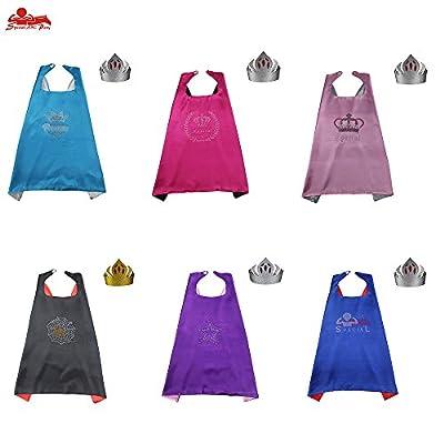 D.Q.Z Superheros Cape & Mask, Unisex Kids Cloak Party Decoration Role Cosplay Costumes 70cm