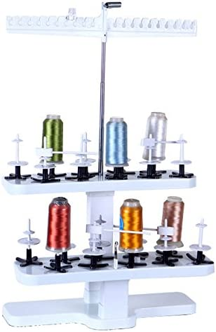 EMBROIDERY MACHINE THREAD//COTTON STAND NOT FOR 10 BUT FOR 20 SPOOLS!