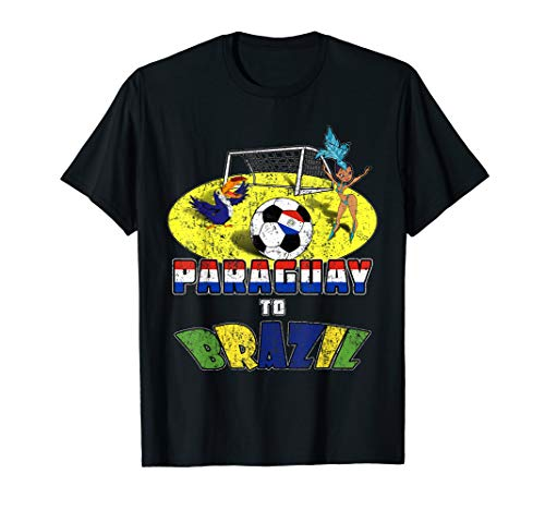 Paraguay National Soccer Team to Brazil with Samba T-Shirt ()