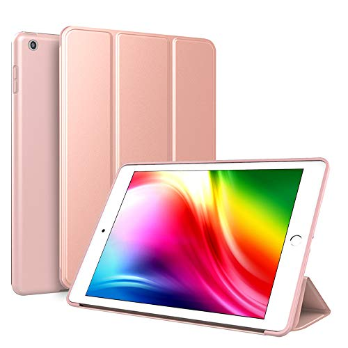 Kenke iPad Case 9.7 for 2017/2018,Ultra Slim Lightweight Smart Case TPU Soft Silicone Stand with Auto Sleep/Wake for iPad Cover 9.7 inch iPad 5th/6th Generation-Rose Gold