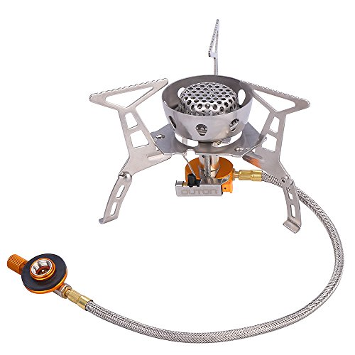 Butane Propane (OUTON Portable Camping Gas Stove Butane/Propane with Piezo Ignition Windproof Foldable Lightweight Backpacking Stove with Carrying Case)