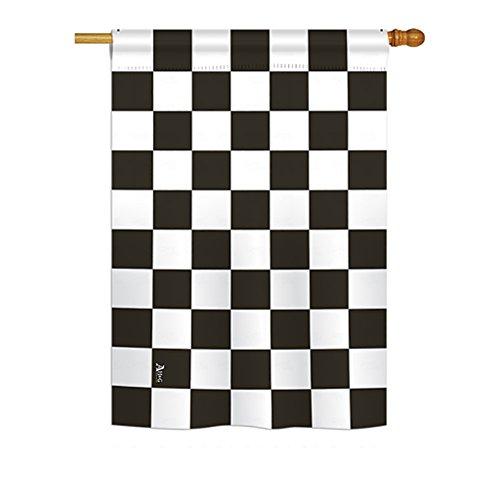 Americana H140824 Black Checker Special Occasion Merchant Impressions Decorative Vertical House Flag 28