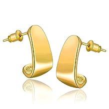 Laprapha Lose Money Promotions! 18K Gold Plating earings fashion jewelry L stud brinco horloge