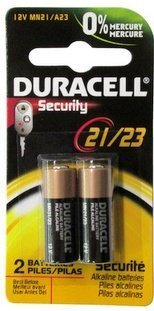 Duracell 12 Volt Alkaline Alarm Remote Battery MN21 / A23 2