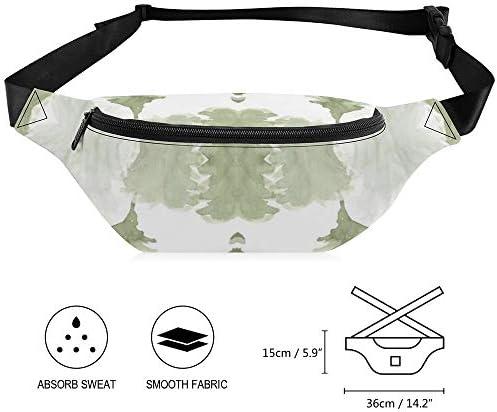 森の木松の木森林パターン ウエストバッグ ショルダーバッグチェストバッグ ヒップバッグ 多機能 防水 軽量 スポーツアウトドアクロスボディバッグユニセックスピクニック小旅行