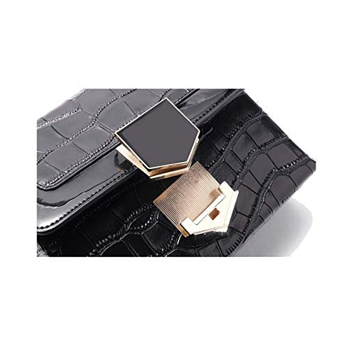 Cadena color Pequeño Cuadrado Tamaño Negro Paquete Un Europa Bolso Para Diagonal Moda Tamaño Negro Eeayyygch Y Simple América Mujer qZwtOv6P