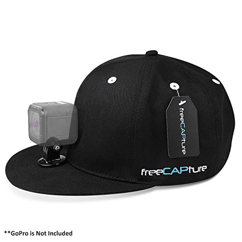Hat Compatible with Removable GoPro Camera Head Mount - Hero Action Camcorder HD Edition - Go Pro 4 Silver , 3 + Black , 2 White , 1- Helmet Accessory Strap Caps Harness Studio Accessories