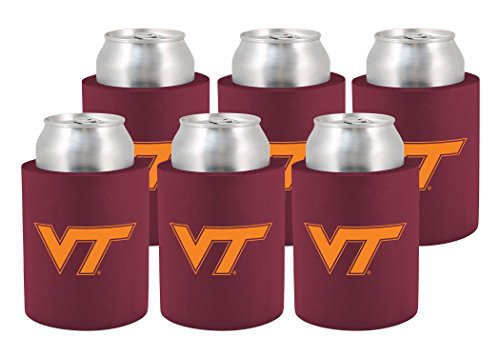 (NCAA Virginia Tech Hokies Phoozie Set, 6-Pack, Maroon/Orange)