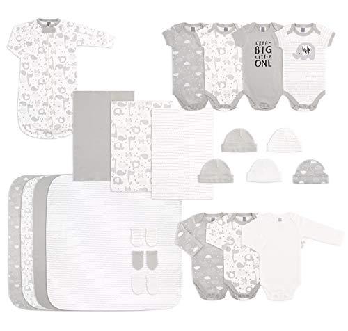 The Peanutshell Newborn Layette Set in Unisex Grey - 23 Piece Set for Newborn Baby Boys or Girls