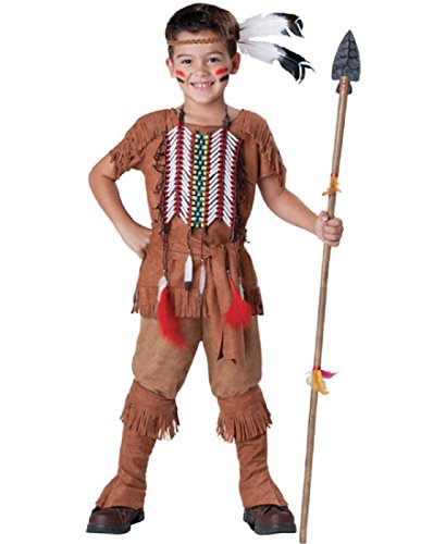 InCharacter Costumes Boy's Indian Brave Costume, Tan, 8