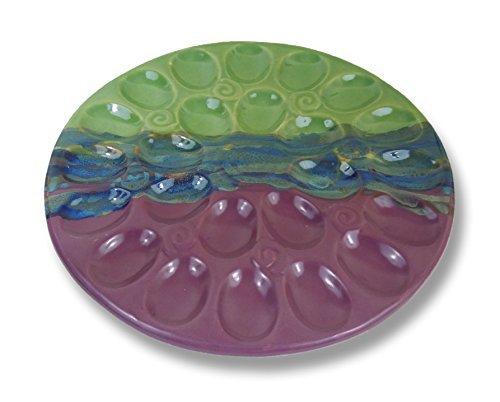 Clay In Motion Handmade Ceramic Deviled Egg Tray - Mossy Creek