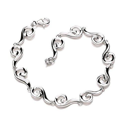 Bracelet en argent Sterling avec motif tourbillon