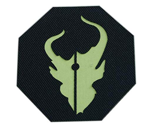 Reflective Warrior Red Team Demon Hunter Team 6 ST6 DEVGRU Military Patch Fabric Embroidered Badges Patch Tactical Stickers with Hook & Loop -
