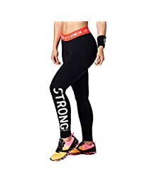 STRONG By Zumba Let It Sync In Ankle Leggings, Bold Black